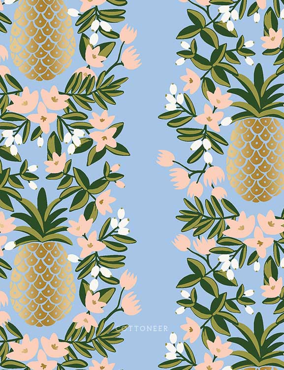primavera-pineapple-stripe-in-periwinkle-metallic-by-rifle-paper-co